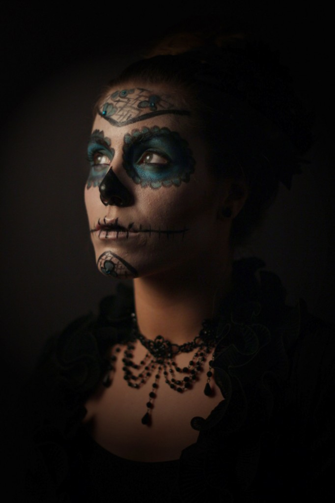 sugar skull makeup-by Michaela Brandl